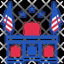 Oval President White Icon