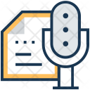 Announce Microphone Documents Icon