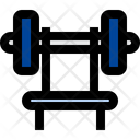 Press Bench Fitness Barbell Icon