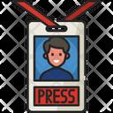Press Card Id Card Journalist Card Icon