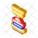 Press Equipment Isometric Icon