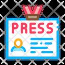 Pass Badge Press Icon