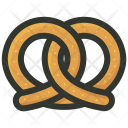 Pretzel Breakfast Appetizer Icon