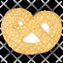 Pretzel Bread Pastry Icon