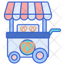 Pretzel Stall Pretzel Cart Bake Icon