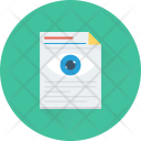 Preview Eye Document Icon