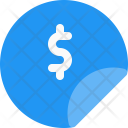 Badge Dollar Sticker Icon