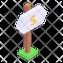 Road Board Price Board Dollar Board Icon