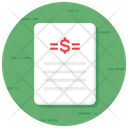 Price List Cost List Financial Contract Icon