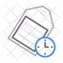 Label Tag Time Icon