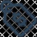 E Commerce Tag Dollar Icon