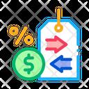 Cash Interest Price Icon