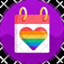 Love Calender Date Icon