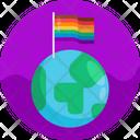 Flag Gay Homosexual Icon