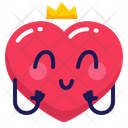 Heart Princess Crown Icon