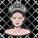 Princess White Woman White Icon