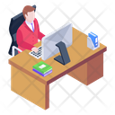 Office Room Principal Office Workspace Icon