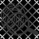 Scan Biometric Identification Icon