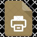 Print File Sheet Icon