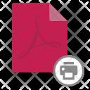 Print Doc Document Icon