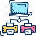 Connection Document Network Icon