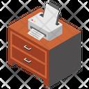 Printer Printer Table Office Equipment Icon