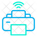 Smart Printer Automation Internet Of Things Icon