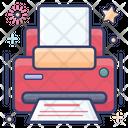 Printer Typesetter Printing Machine Icon