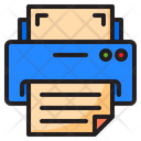 Printer Text Files Icon