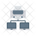 Printer Connection Network Icon