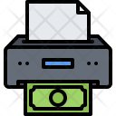 Printer Paper Bank Icon