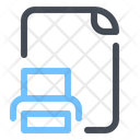 Printed File Document Icon