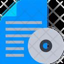 Printing Document Cd Disc Icon