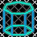 Geometry Hexagonal Prism Icon