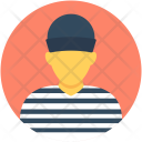 Prisoner Inmate Robber Icon