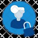 Privacy Man Lock Icon