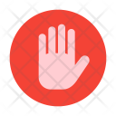 Private Palm Gesture Icon