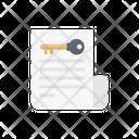 Document Privacy Lock Icon