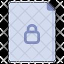 Private File Lock File File Icon