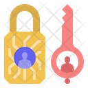 Private Key Cryptography Encryption Password Icon