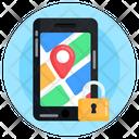 Locked Location Private Location Location Protection Icon