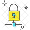 Private Network Network Security Padlock Icon