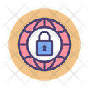 Private Network Secure Connection Lock Icon