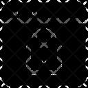Private Network Lock Network Icon