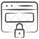 Private Website Web Lock Web Safety Icon