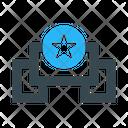 Prize Ribbon Star Icon