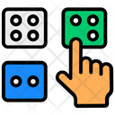 Probability Dice Gambling Icon