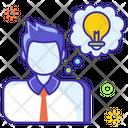 Problem Solution Creative Person Innovative Person Icon