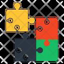 Problem Solution Teaser Jigsaw Icon