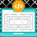 Problem Solving Programming Laptop Icon